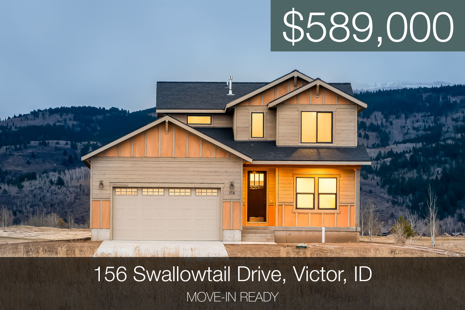 New Homes for sale in driggs idaho